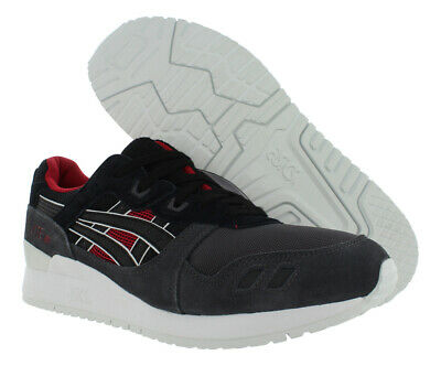 best service d22aa e623b ASICS GEL Lyte III Black Grey Suede Red White H6x2l 9090 Mens Running 12