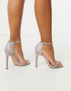 insecto palma otro  Steven Madden Collette Two~ Piece Rhinestone Sandals Pink Glitter Size 8  1/2 M | eBay