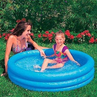 Intex 59416NP Crystal Blue Three Ring Inflatable Paddling Pool 1.14m x 25cm Fast