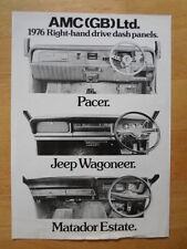 AMC PACER JEEP MATADOR orig 1976 UK Mkt RHD Leaflet Brochure - American Motors