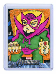 2012 Upper Deck Avengers Assemble Sketch Card of Mandarin by j(ay)