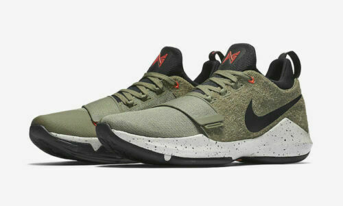 3652eab1aa0 Mens Nike PG 1 Elements 911085-200 Medium Olive Black NEW NEW NEW 9.5 7501e6