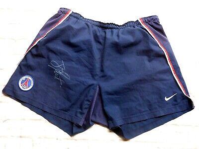 Short PSG Paris Saint Germain sg signed JAY JAY OKOCHA foot ultras signé | eBay