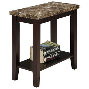 Fine-Marble-Style-Wood-Side-End-Table-with-Shelf-in-Espresso-Finish