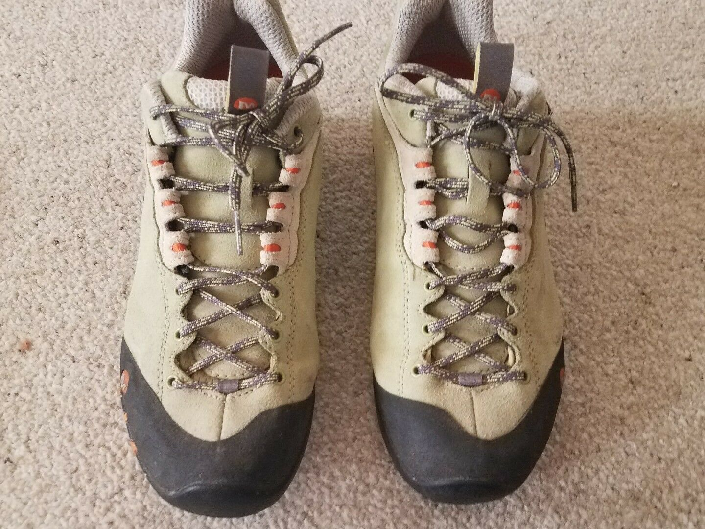 Merrell green ortholite continum air cushion hiking shoes boots womens 8.5