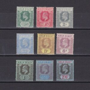 GOLD COAST 1907, SG# 59-67, CV £140, part set, MH