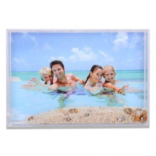 Cornice Fotografica per foto 10x15 portafoto con sabbia e conchiglie - instantst