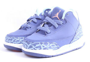 7982a62df533 Air Jordan 3 Retro GT   654964 506 Purple Dust Toddler SZ 4 - 10