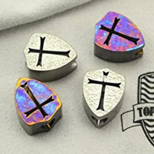 F6I0 Titanium Alloy Parachute Cord Bead Lanyard Unique Charms Beads Pattern