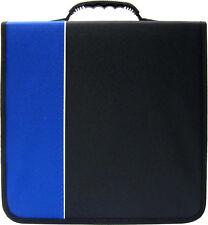 (6) CRY-E360BL 360 Disc Capacity Black & Blue CD DVD Binders Storage Media 350