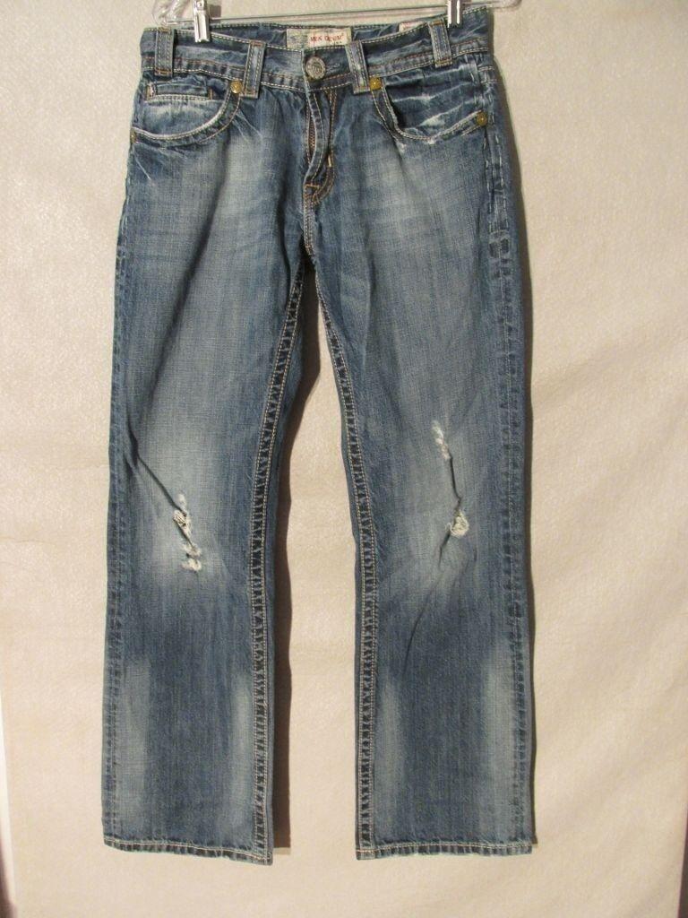F1018 MEK Mykonos Boot Cut Destructed Killer Fade Jeans Women's 32x32