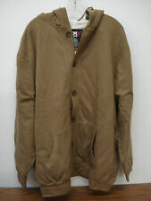 NWOT Big Men's Thermal Lined Button Up Hoodie Jacket Size XL Light Brown #27