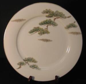Noritake-Ming-DINNER-PLATE-S-Asian-Bonsai-Branch-gold-rim-5612-Several-Available