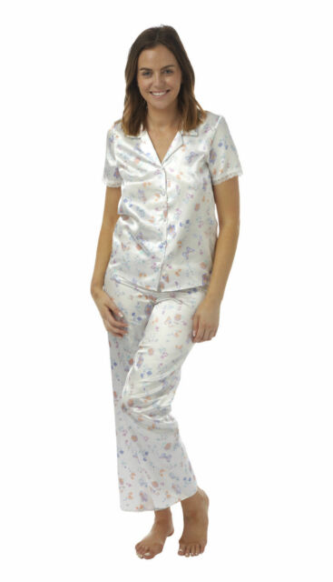 Ladies BHS Satin Short Sleeved Pyjamas Butterfly Print Sizes 8 to 22 ... 7233cbcc2