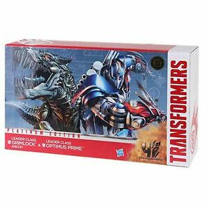 Transformers Extinction Platinum Leader Grimlock & Optimus Prime Collection
