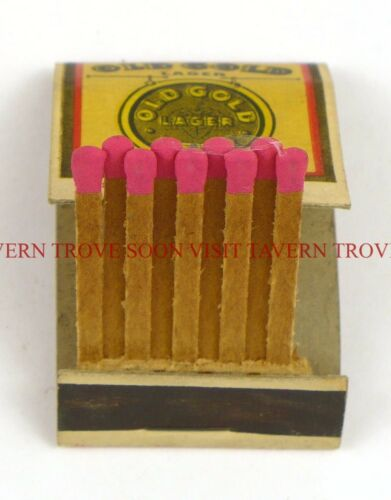 1930s Reedsburg Wisconsin Old Gold Beer Matchbook Tavern Trove