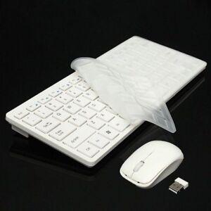Kit Tastiera slim mini+ Mouse ottico Wireless 2.4 GHz mini keyboard-senza fili