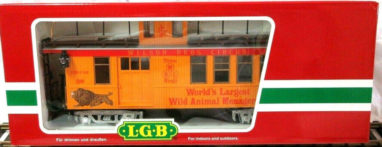 LGB 4075 - DG WILSON BROS. CIRCUS CABOOSE       NEW