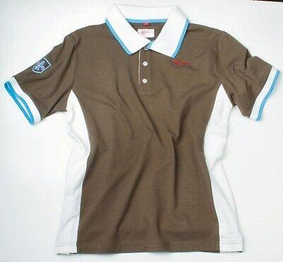 Maglia Polo Covalliero London T-shirt Uomo Camicia Marrone Top Marina-
