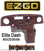 Ezgo Txt Golf Cart Elite Radio Dash Cover Woodgrain (free Shipping)