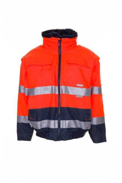 Planam Warnschutz comfortjacke Gr. XL Orangemarine 100 PES 2046