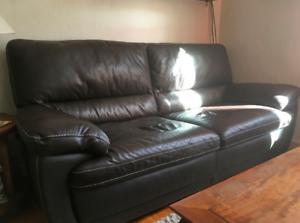 Canapé en cuir 3 places occasion