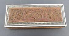 Vintage/Antique Indian Sadeli Mosaic & Carved Sandalwood Wooden Box