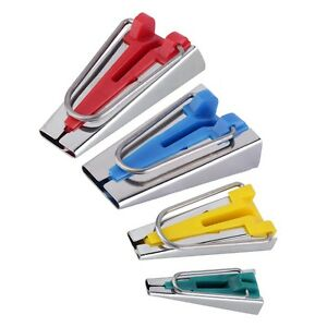 4-Size-Fabric-Bias-Tape-Maker-Tool-Kit-Set-6mm-12mm-18mm-25mm-Sewing-Quilting-YB