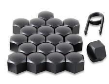 Set 20 17mm Black Car Caps Bolts Covers Wheel Nuts For Nissan Qashqai