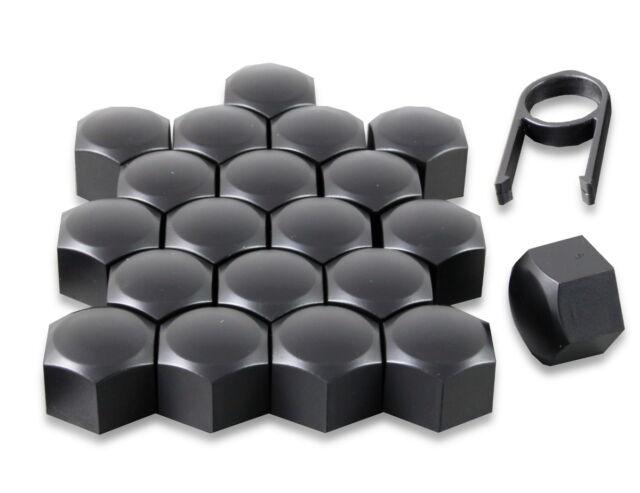 Satz 20 17mm Schwarz Auto Kappen Schraubkappen Radmuttern für Nissan Qashqai