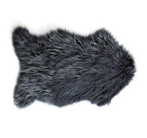 Bianca Mongolian Faux Fur Rug 60x 90cm in Charcoal RRP $49.95