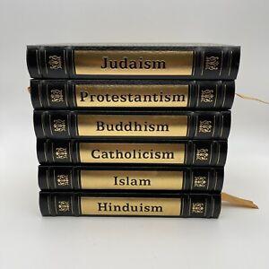Easton Press 6 Vol Religion Set Buddhism Catholicism Hinduism Islam Judaism Prot