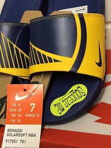 234e007be61 Nike Benassi SOLARSOFT NBA GOLDEN STATE WARRIORS Mens Slide UK 6 EUR ...