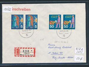 10172) Spécial R-ticket De Cologne Messe Pour Le Bébé, Brf Jour-stpl 18.10.70-afficher Le Titre D'origine Approvisionnement Suffisant