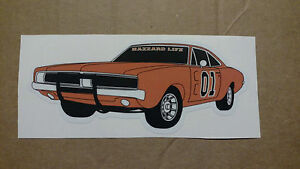 6 Dukes of Hazzard General Lee 01 Hazzard Life Vinyl Decal Stickers