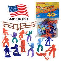 Tootsietoy Cowboys & Indians: 40 Western Figures Joy Toy Lido Processed Plastic