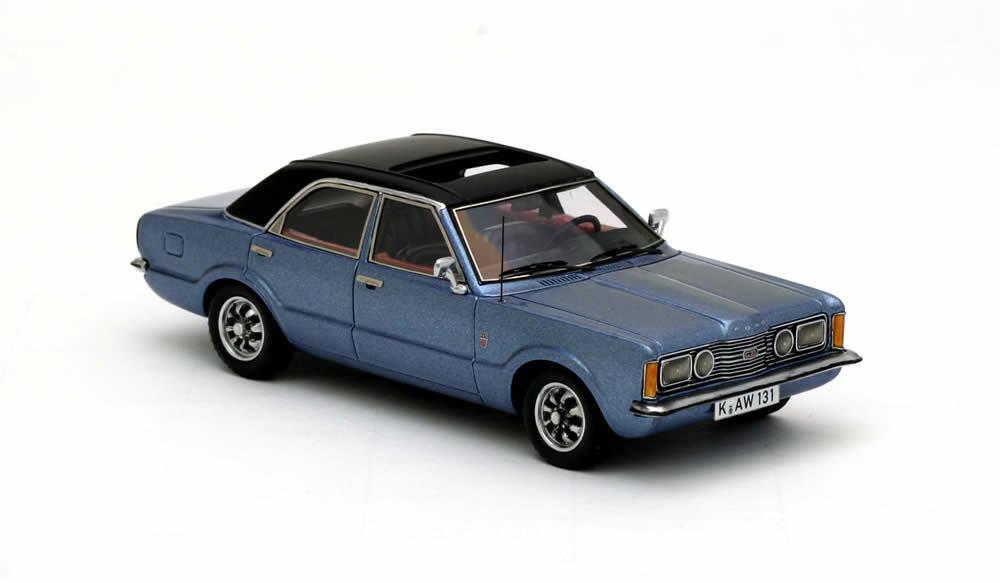 El ultimo 2018 Ford Taunus Taunus Taunus GXL 4-door  azul Metallic  1973 (Neo Scale 1 43   45131)  descuento online