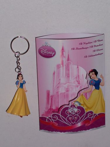 SNOW WHITE FIGURINE 3D KEY CHAIN WITH KEYRING