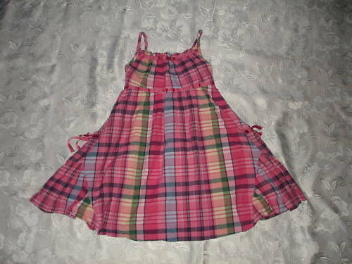 SO NICE Girls BABY GAP Seaside Plaid DRESS Sz 4-5