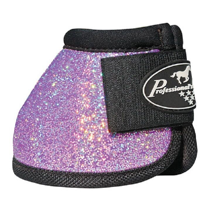 Professional's Choice Purple Glitter Secure Fit Overreach bell boots M Pro Prof