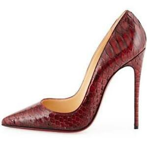 2ecf7a1ed6da Image is loading Christian-Louboutin-SO-KATE-120-Python-Clark-Stiletto-