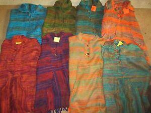 Fair-Trade-INDIAN-BLANKET-TOP-Fleece-jumper-pullover-Hippy-Winter-Cashmelon