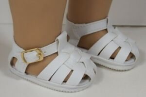 95511f0badcf71 WHITE Fisherman BUCKLE Sandals Doll Shoes For 18