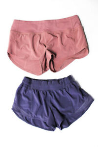 Lululemon Womens Running Shorts Pink Purple Size 4 Lot 2