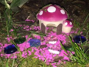 Image Is Loading Pink Mushroom House With Pink Gravel Amp Beads
