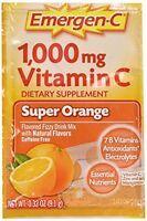5 Pack Emergen-c Pink 1000 Mg Vitamin C Supplement Super Orange 30 Packets Each