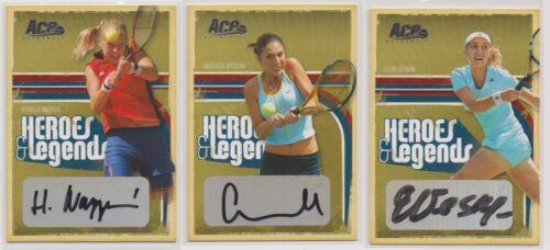 2006 Ace Authentics Tennis Greats Vesnina Myskina Nagyova 3 Autographed Cards!  