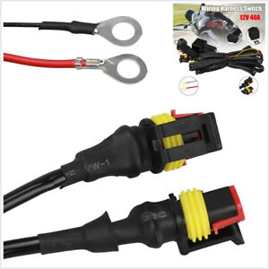 Motorcycle-LED-Fog-Light-Wiring-Harness-On-Off-Switch-40A-For-BMW-R1200GS-F800GS