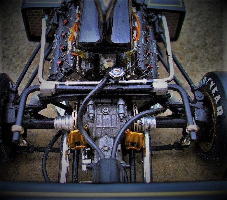 F Grand Prix Formula 1 Lotus 18 Vintage Race Car 43 Sport enano 24 exótico 1970s 12 Rara