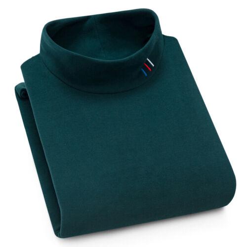 New Half-High Collar Men/'s Knit Bottoming Shirt Plus Velvet Slim Sweater Youth